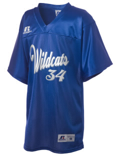 Blue Grass Elementary School Wildcats Russell Kid's Replica Football Jersey