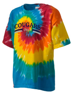 Pleasant View Elementary School Cougars Kid's Tie-Dye T-Shirt