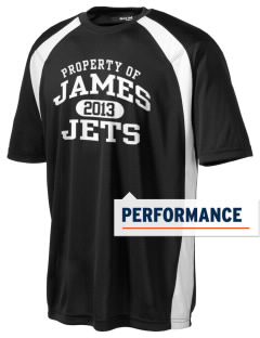 James Elementary School Jets Men's Dry Zone Colorblock T-Shirt