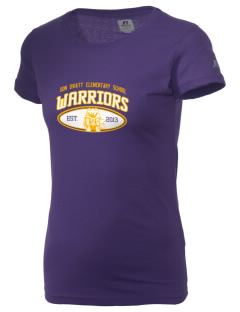 Don Oviatt Elementary School Warriors  Russell Women's Campus T-Shirt