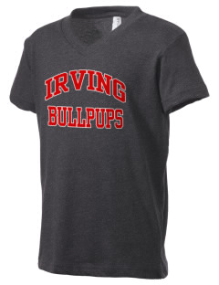 Irving Primary Center Bullpups Kid's V-Neck Jersey T-Shirt