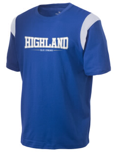 Highland High School Blue Streaks Holloway Men's Rush T-Shirt