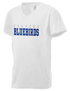 Goessel High School Bluebirds Kid's V-Neck Jersey T-Shirt