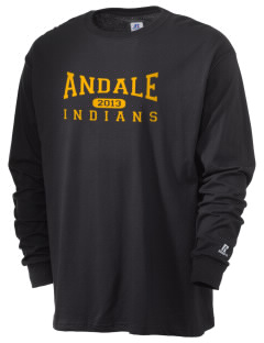 Andale High School Indians  Russell Men's Long Sleeve T-Shirt