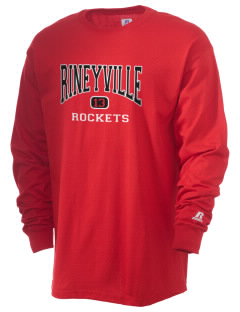 Rineyville Elementary School Rockets  Russell Men's Long Sleeve T-Shirt
