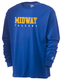 Midway Elementary School Falcons  Russell Men's Long Sleeve T-Shirt