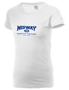Midway Elementary School Falcons  Russell Women's Campus T-Shirt