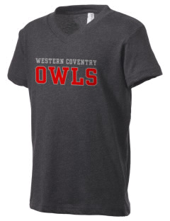 Western Coventry Elementary School Owls Kid's V-Neck Jersey T-Shirt