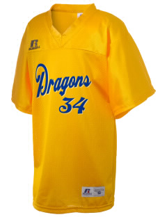 Davisville Middle School Dragons Russell Kid's Replica Football Jersey