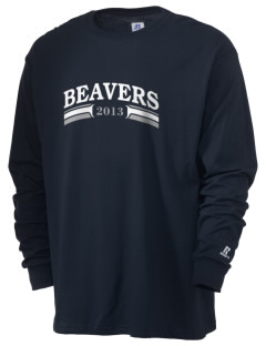 Hampton Street Elementary School Beavers  Russell Men's Long Sleeve T-Shirt