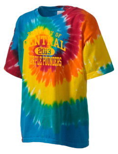 Central High School Purple Pounders Kid's Tie-Dye T-Shirt