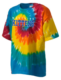 Westside Elementary School Kittens Kid's Tie-Dye T-Shirt