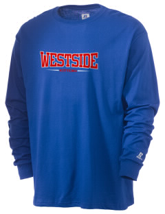 Westside Elementary School Kittens  Russell Men's Long Sleeve T-Shirt