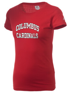 Columbus Elementary School Cardinals  Russell Women's Campus T-Shirt