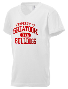 Skiatook High School Bulldogs Kid's V-Neck Jersey T-Shirt