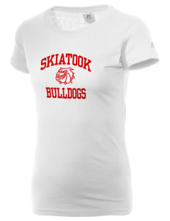 Skiatook High School Bulldogs  Russell Women's Campus T-Shirt