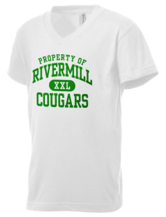 Rivermill Elementary School Cougars Kid's V-Neck Jersey T-Shirt