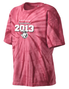 Shannock Valley High Spartans Kid's Tie-Dye T-Shirt