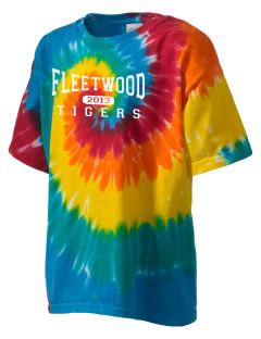 Fleetwood Elementary School Tigers Kid's Tie-Dye T-Shirt