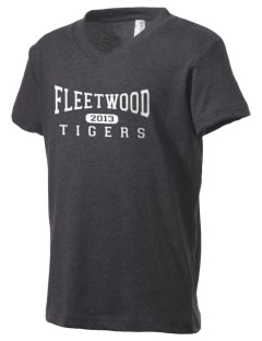 Fleetwood Elementary School Tigers Kid's V-Neck Jersey T-Shirt
