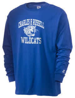 Charles H Russell Elementary School Wildcats  Russell Men's Long Sleeve T-Shirt