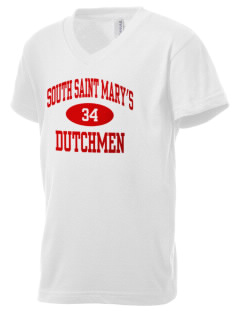 South Saint Marys Elementary School Dutchmen Kid's V-Neck Jersey T-Shirt