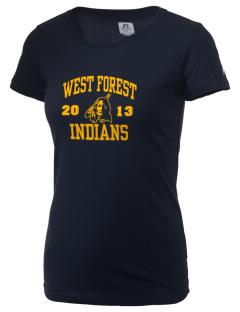 West Forest High School Indians  Russell Women's Campus T-Shirt