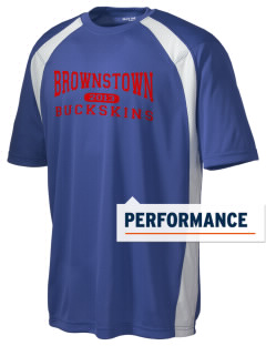 Brownstown Elementary School Buckskins Men's Dry Zone Colorblock T-Shirt