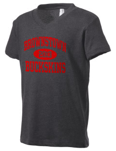 Brownstown Elementary School Buckskins Kid's V-Neck Jersey T-Shirt