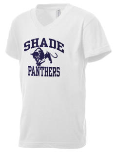 Shade Elementary School Panthers Kid's V-Neck Jersey T-Shirt