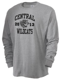 Central Middle School Wildcats  Russell Men's Long Sleeve T-Shirt