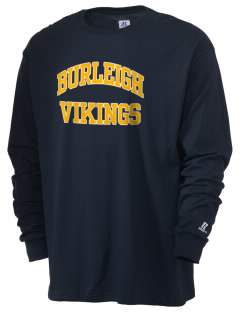 Burleigh Elementary School Vikings  Russell Men's Long Sleeve T-Shirt
