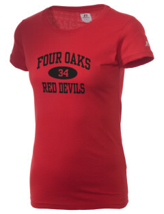 Four Oaks Elementary School Red Devils  Russell Women's Campus T-Shirt