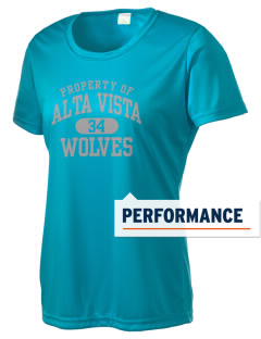 Alta Vista Elementary School Wolves Women's Competitor Performance T-Shirt