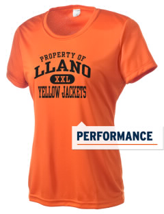 Llano High School Yellow Jackets Women's Competitor Performance T-Shirt
