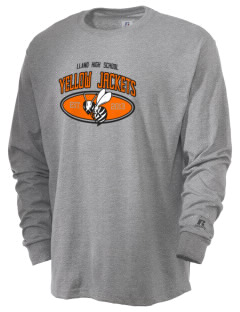 Llano High School Yellow Jackets  Russell Men's Long Sleeve T-Shirt