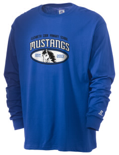 Elizabeth Cook Primary School Mustangs  Russell Men's Long Sleeve T-Shirt