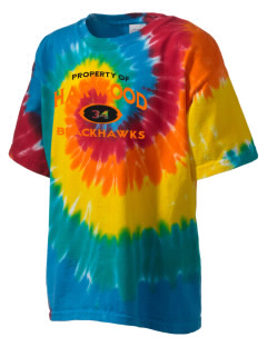Harwood Junior High School Blackhawks Kid's Tie-Dye T-Shirt