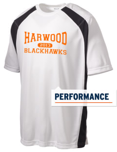 Harwood Junior High School Blackhawks Men's Dry Zone Colorblock T-Shirt