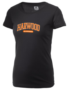 Harwood Junior High School Blackhawks  Russell Women's Campus T-Shirt