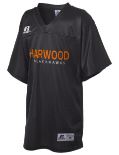 Harwood Junior High School Blackhawks Russell Kid's Replica Football Jersey