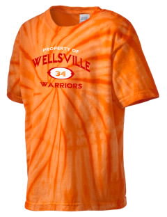 Wellsville Elementary School Warriors Kid's Tie-Dye T-Shirt