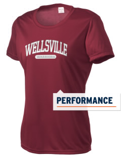 Wellsville Elementary School Warriors Women's Competitor Performance T-Shirt