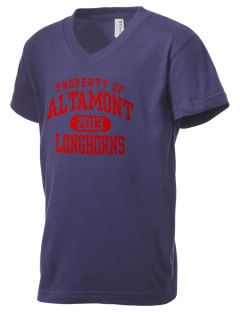 Altamont High School Longhorns Kid's V-Neck Jersey T-Shirt