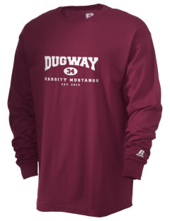 Dugway High School Mustangs  Russell Men's Long Sleeve T-Shirt