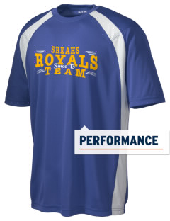 South Royalton Elementary And High Royals Men's Dry Zone Colorblock T-Shirt
