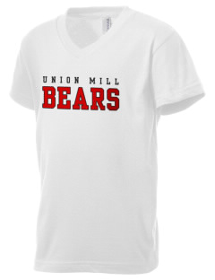 Union Mill Elementary School Bears Kid's V-Neck Jersey T-Shirt