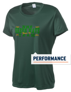 Narrows High School Green Wave Women's Competitor Performance T-Shirt