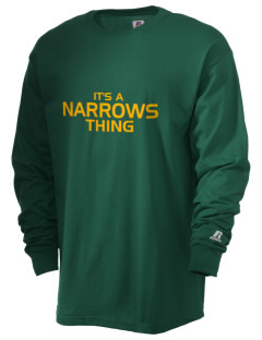 Narrows High School Green Wave  Russell Men's Long Sleeve T-Shirt