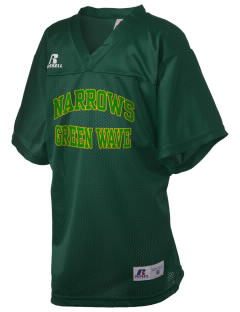 Narrows High School Green Wave Russell Kid's Replica Football Jersey